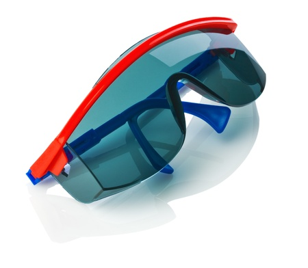 glases: dark protective glases isolated