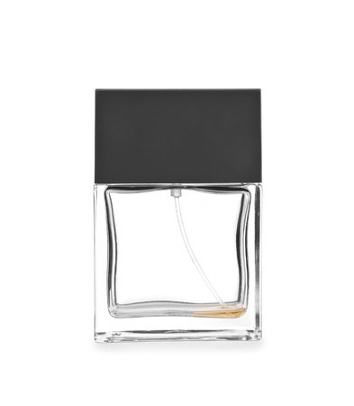 aftershave: empty perfume bottle Stock Photo