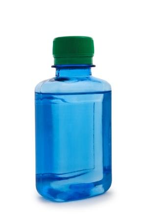 chemic: isolated blue hemical bottle Stock Photo