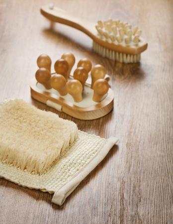 massager: massager brush and bast