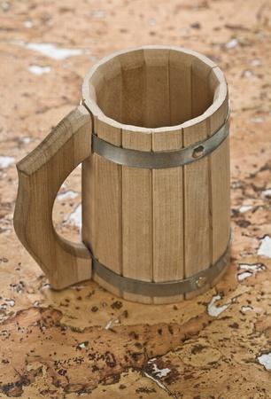 bathe mug: mug on cork wood
