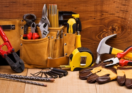 home improvement store: set of working tools