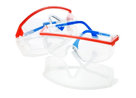 glases: safety glases isolated Stock Photo