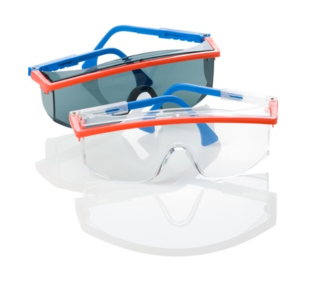 personal protective equipment: safety glasses isolated Stock Photo