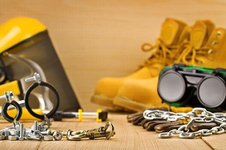suede belt: herramientas de seguridad Foto de archivo