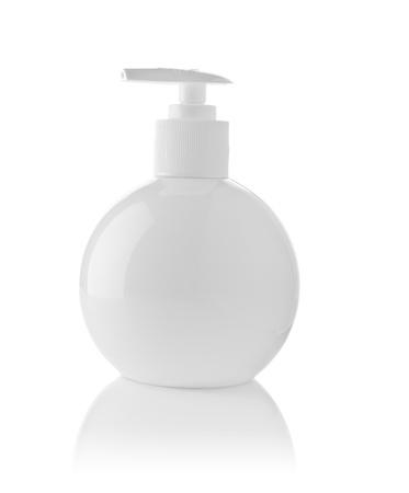 basic care: round white bottle Stock Photo
