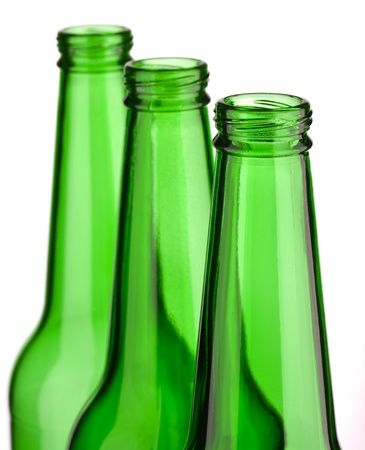top of three bottle isolated photo