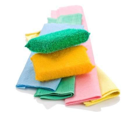rags: two sponges on rags