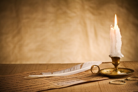 candle: vintage still-life