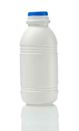 white bottle isolated Stok Fotoğraf - 11526146