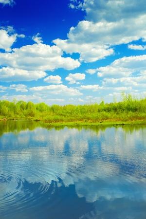 beaty: beaty lake and sky with reflection