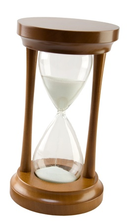wood hourglass Stock Photo
