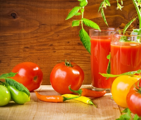 tomatoes and juice photo
