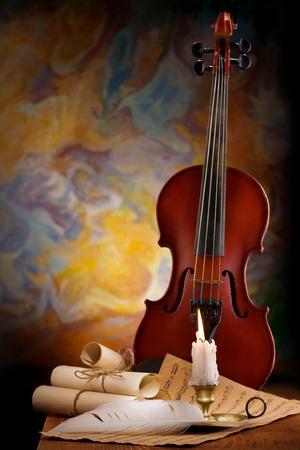 instruments de musique: musique de fond antique Banque d'images