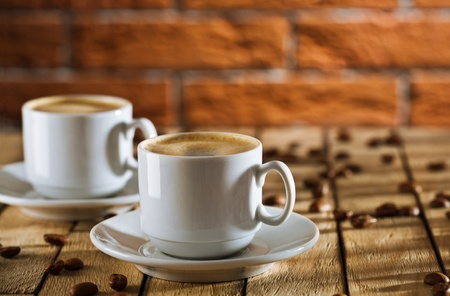 two cups of coffee photo