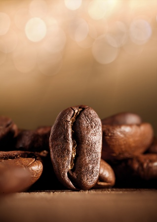 coffee beans with bokeh photo