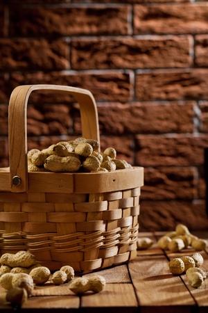 peanuts in basket photo