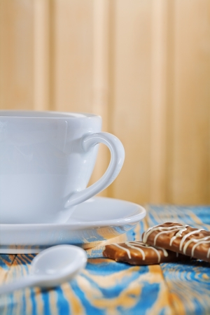 coffee cup and cookies photo