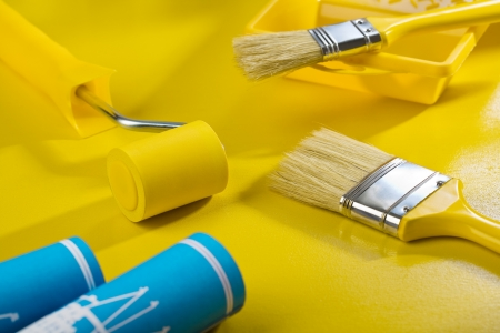 composition of painting tools photo