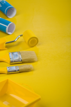 painting tools in copyspace composition photo