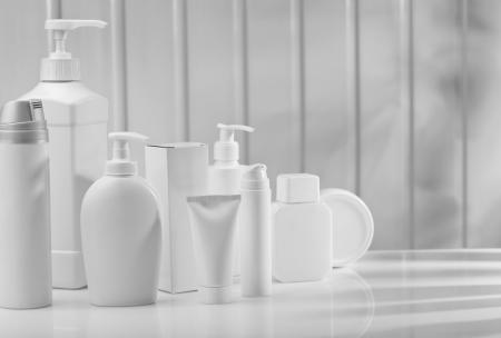 big composition of skincare items Stok Fotoğraf - 14164096