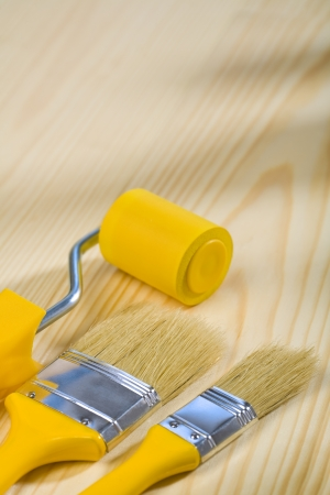 brushes and roller for painting photo