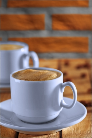 espresso in white cup photo