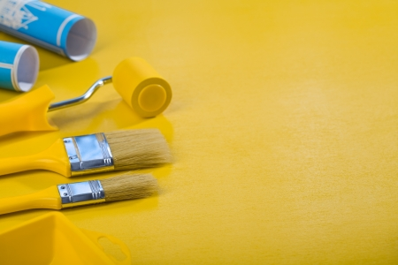 copyspace image of painting tools photo
