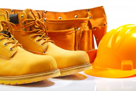 belt boots hardhat Stock Photo - 14446388
