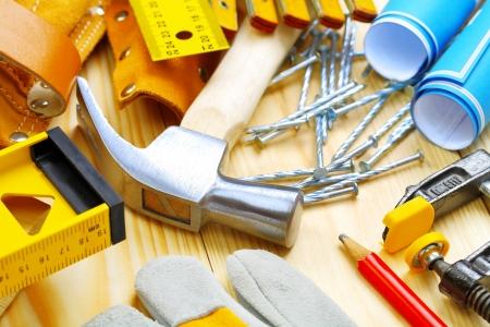 suede belt: composici�n grande de herramientas de construcci�n