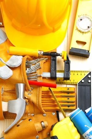 big set of construction tools photo