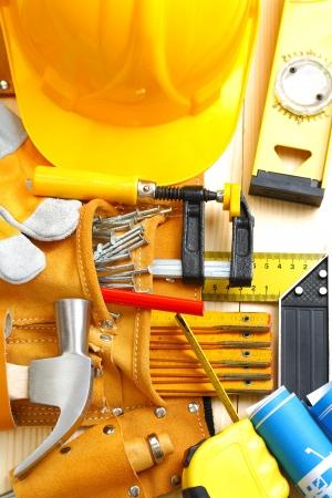 suede belt: gran conjunto de herramientas de construcci�n Foto de archivo