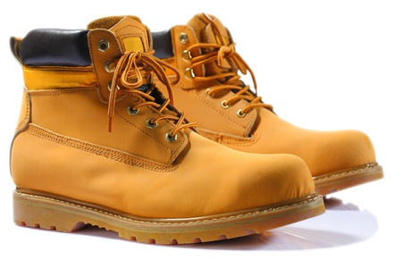 working boots isolated
