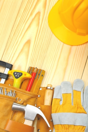 copyspace image of construction tools photo