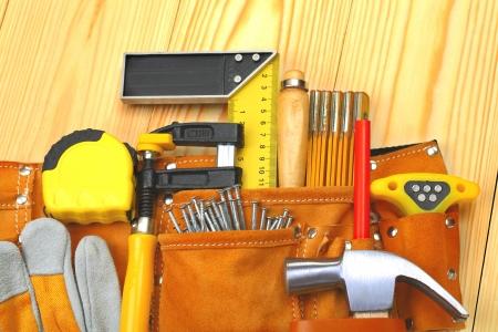 suede belt: set of tools in belt