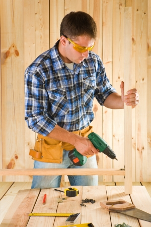 carpenter in work photo
