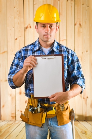 worker with clipboard photo