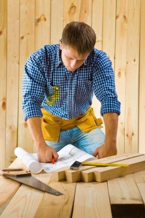 contractors: worker near table