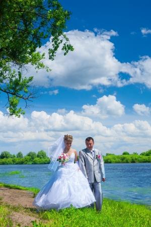 joyfull: newlywed pair