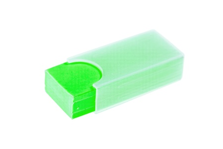 shool: green shool eraser