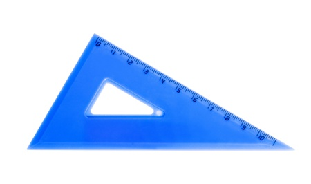 blue school triangle isolated photo