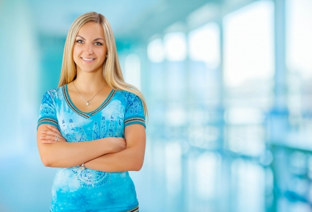 a young smiling female Stock Photo - 22189590