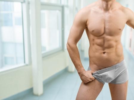 bare chest: torso of muscular male