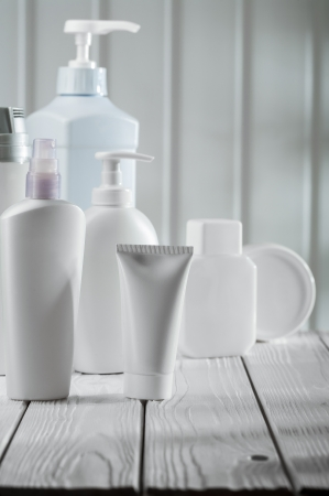 big composition of skincare objects photo
