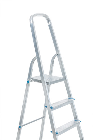 very close up view on stepladder isolated photo