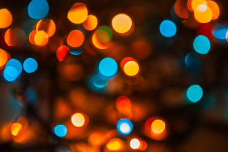 abstract bokeh of street lights photo