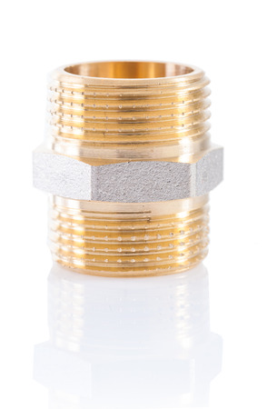 collet: plumbers fixture close up Stock Photo