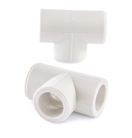 household fixture: polypropylene fittings isolated