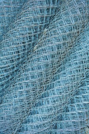 rabitz: Rolls of rabitz type steel-wire plaster fabric angle version Stock Photo