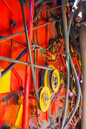 harvester: part of combine harvester Stock Photo